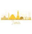 izmir city skyline golden silhouette vector image vector image