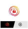 key logo design concept security icon symbol vector image