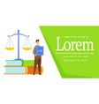 law science degree web banner template vector image vector image