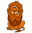 lion animal character cartoon vector image vector image