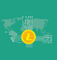 litecoin cryptocurrency brand icon option with vector image vector image