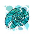 marine background seashell for your design vector image vector image
