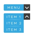 menu item ux vector image vector image