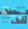 modern city silhouette skyscrapers and buildings vector image vector image