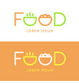 modern minimalistic logo of food vector image vector image