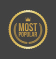 most popular gold sign round label
