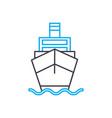 motor vessel thin line stroke icon motor vector image