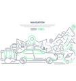 navigation - modern line design style web banner vector image