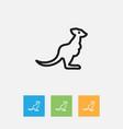 of zoology symbol on kangaroo vector image vector image