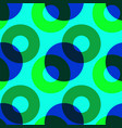overlaying color circles seamless pattern vector image vector image