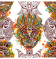 pattern with african tribal mask vector image