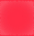 pop art background white dots on red background vector image