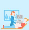 pregnancy examination pregnant woman ultrasound vector image vector image