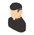 priest icon isometric 3d style vector image vector image