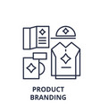product branding line icon concept product vector image vector image