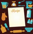 recipe vector image vector image