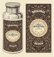 retro design with bottleand floral elements vector image vector image