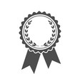 ribbons award with laurel wreath inside vector image