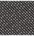 Seamless Black And White Diagonal Dash vector image vector image