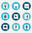 set of 9 editable agriculture icons includes vector image