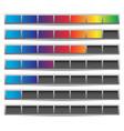 set of progress loading bars preloaders in vector image vector image