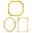 set of various golden frames vector image vector image