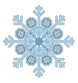 Single Snowflake vector image vector image