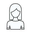 sketch silhouette of faceless half body woman with vector image vector image