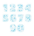 Snowflake numbers set vector image vector image