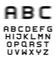speed motion blur font alphabet letters vector image vector image