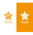 star logo combination leader vector image