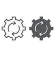 system update line and glyph icon vector image