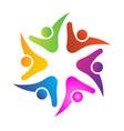 teamwork logo vector image vector image