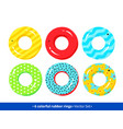 top view collection rubber rings vector image vector image