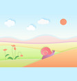 trendy gradient color cuted paper summer landscape vector image