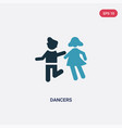 two color dancers icon from people concept vector image