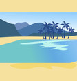 vacation background island nature beach in vector image vector image