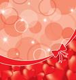 valentine back vector image vector image