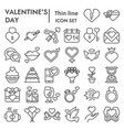 valentines day line icon set love symbols vector image vector image