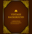 vintage background in a luxurious royal style vector image vector image
