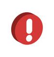 Warning sign alert icon isometric