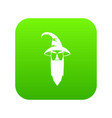 wizard icon digital green vector image