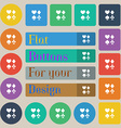 card suit Icon sign Set of twenty colored flat vector image