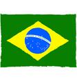 Painted Brazilian flag vector image