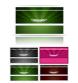 Victorian business cards set vector image
