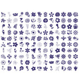 flower icons on a white vector image