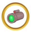 Sniper rifle telescope icon vector image