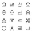 16 infographic icons vector image vector image