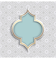 3D Abstract Islamic design pattern mosaic vector image vector image