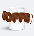 a cup of a realistic hot coffee vector image